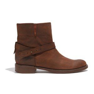 """Madewell """"The Biker Boot"""" in Distressed Brown - 6"""